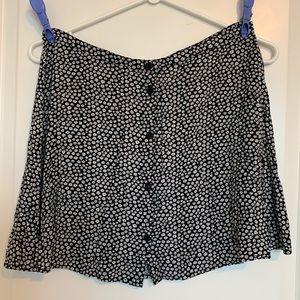 H&M Daisy Print A-line Skirt